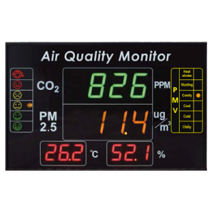 (7.6) EYC-Multifunction Indoor Air Quality Large LED Display/Monitor/Indicator